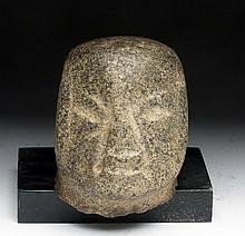 Pre-Columbian Olmec Stone Head (Baby Face)