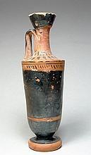 Greek Attic Black-Glazed Lekythos