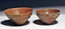 Lot of 2 Holy Land Bronze Age Terracotta Bowls