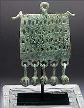 Greek Geometric Bronze Pectoral, Dangling Bells