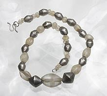 Syrian Rock Crystal and Silver Bead Necklace - Ex-Christie's