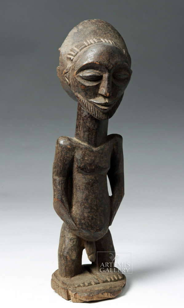 20th C. African Hemba Wood Ancestor Figure