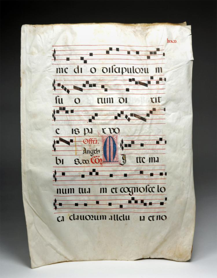 16th C. Mozarabic Vellum Music Manuscript from Spain