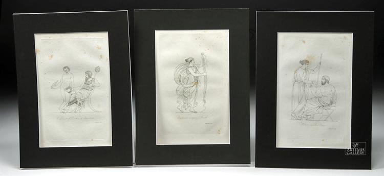 19th C. British Engravings by T. Baxter, Ex-MFA Boston