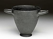 Etruscan Bucchero Pottery Skyphos