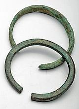 Pair of Roman bronze Arm Bands