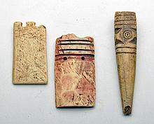 Lot of 3 Ancient Coptic Bone Objects