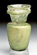 Beautiful Roman Green Glass Jar