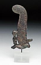 Egyptian Bronze Atef Feather