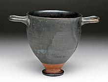 Tall Greek Pottery Skyphos