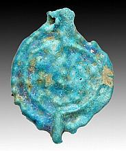 Rare Islamic Blue Glazed Pendant