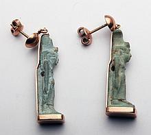Pr Egyptian Amulets Set in 14kt Gold