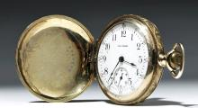 19th C. Waltham 16K+ Gold-Filled Pocket Watch