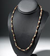 Egyptian Red, Yellow and Black Necklace