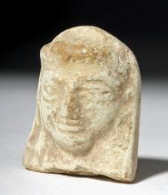 Eastern Mediterranean Ceramic Woman's Head