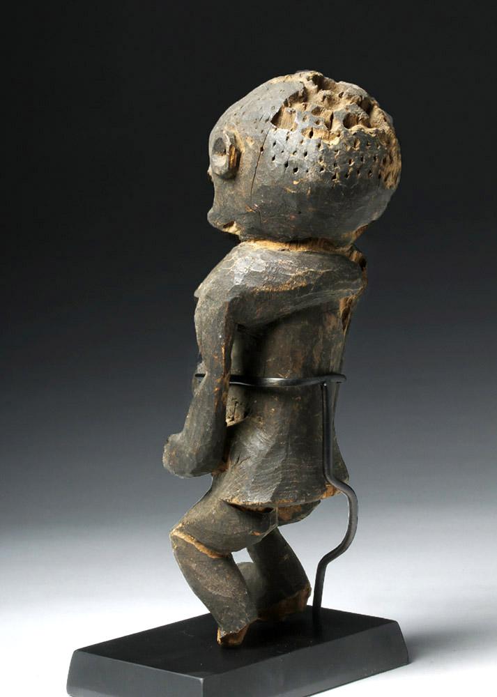 Early 20Th C Cameroon Bangwa Wood Shrine Figure-2610