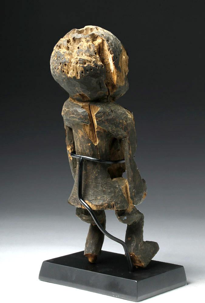 Early 20Th C Cameroon Bangwa Wood Shrine Figure-4613