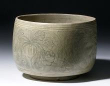 16th C. Annamese Glazed Vessel - Florals