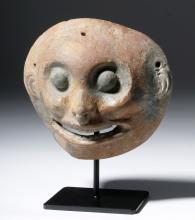 Fine Jamacoaque Polychrome Pottery Maskette