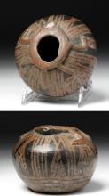 Narino Negative Resist Pottery Jar w/ Frog