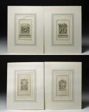Lot of 4 18th C. Italian Etchings - Roman Monuments