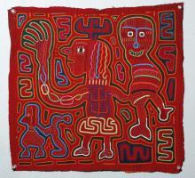 Vibrant Kuna Island Textile Mola - Puppeteer