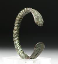 Achaemenid Twisted Bronze Bracelet - Nice Patina
