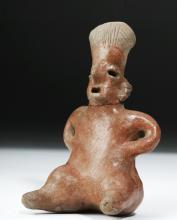 Nayarit Pottery Seated Female Figure