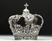 Bolivian Sterling Silver Religious Crown - 93.1 g.