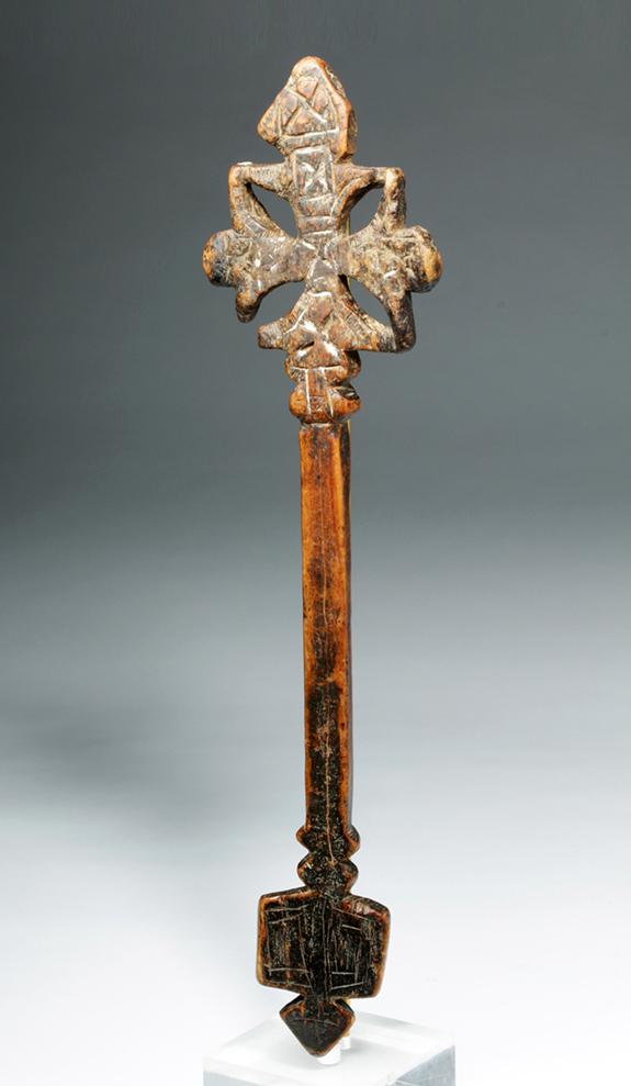 Ethiopian Wooden Cross 19th C. Coptic Ethiopi...