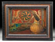 Exhibited Sara Boal Painting, Exotic Still Life, 1925
