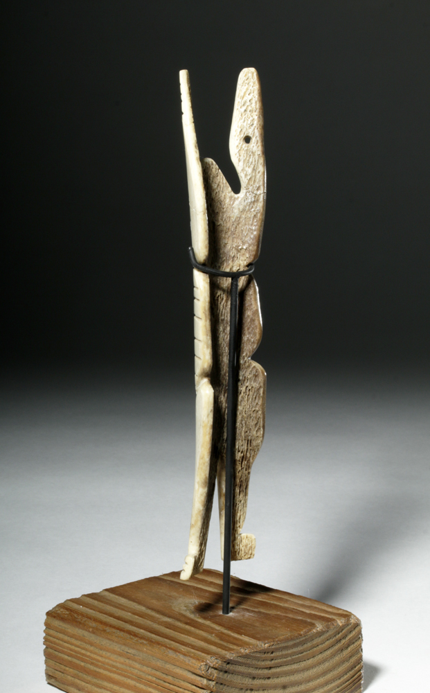 Early th c inuit bone carving anthropomorphic