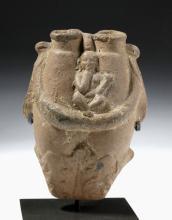 Romano-Egyptain Dual Kohl Container w/ Nude Harpocrates
