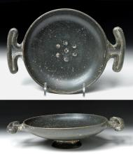 Greek Campanian Blackware Kylix - Rare Form