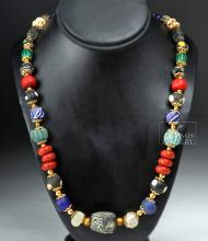 Wearable Necklace of Ancient Greek & Persian Beads