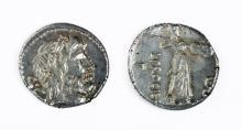 Roman Silver AR Denarius of Procilius - 4 gr