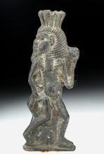 Egyptian Terracotta Amulet of Bes, ex-Bonhams