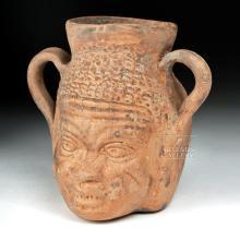 Romano-Egyptian Terracotta Vessel - Nubian Face