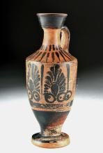Greek Attic Black-Figure Lekythos w/ Palmettes