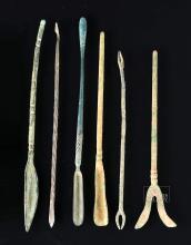 Roman Bronze Medical Implement Assortment (Six)
