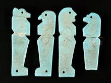 Egyptian Faience Amulets - 4 Sons of Horus
