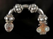 Greek Silver Arched Fibula - 15.1 grams