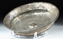 Hellenistic Greek Silver Phiale w/ Omphalos