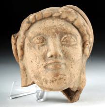 Archaic Greek Terracotta Head of a Kore