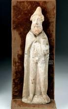 Greek Cypriot Terracotta Figure of Robed Man, ex-Bonhams