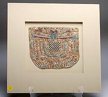 Egyptian Cartonnage Panel - Winged Scarab