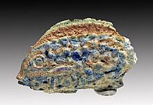 Rare Egyptian Faience Fish Amulet