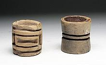 Lot of 2 Olmecoid / Proto-Mayan Roller Seals