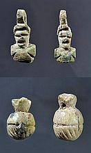 Two Sets of Egyptian Bone Pendants