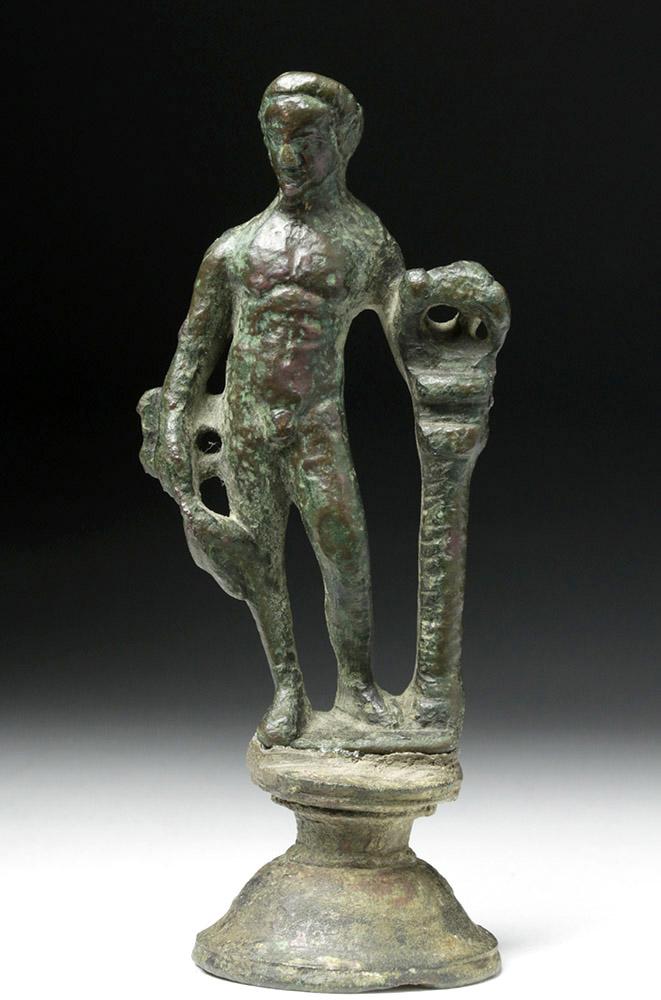 Roman Bronze Statue Youthful God Mercury